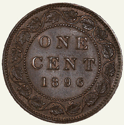 Raw 1896 Canada 1C Uncertified Ungraded Canadian Copper Large Cent