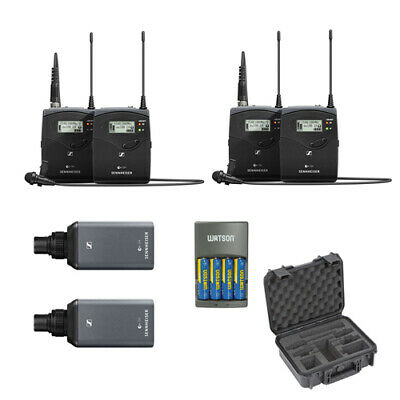 Sennheiser ew 100ENG-G4 Wireless Microphone Combo System- 2pck w/ Case & Charger