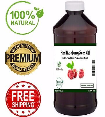 Red Raspberry Seed Oil - 100% Pure Natural Virgin Organic Unrefined Cold Pressed
