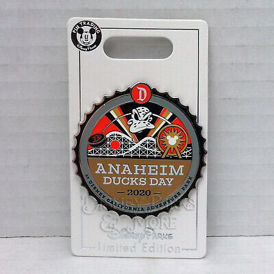 Disney Parks Disneyland Anaheim Mighty Ducks Day Hockey Commemorative Pin LE1000