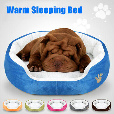 NEW Pet Cat Dog Nest Bed Puppy Soft Warm Round House Sleeping Bed Mat Pad Winter