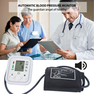 Digital Pulse Arm Blood Pressure Monitor Arterial Heart Beat With Vioce Type #