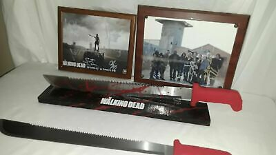 """The Walking Dead Rick Grimes' """"Red Handle"""" Machete ( Prop) With Display Sticker"""