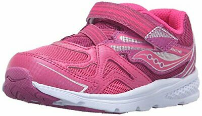 Saucony Girls' Baby Ride Sneaker (Toddler/Little, Pink/Berry,  Size Toddler 5.5