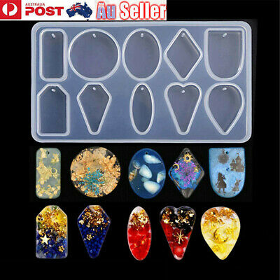 Silicone Earring Pendant Jewelry Mold Dried Flower Mould Resin Casting Craft DIY