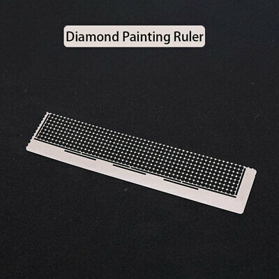 5D Diamond Painting Ruler Stainless Steel Blank Grids Round Full Drill Tool AU