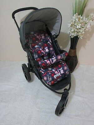 Handmade pram liner set-Australiana-100% cotton CURRENTLY UNAVAILABLE