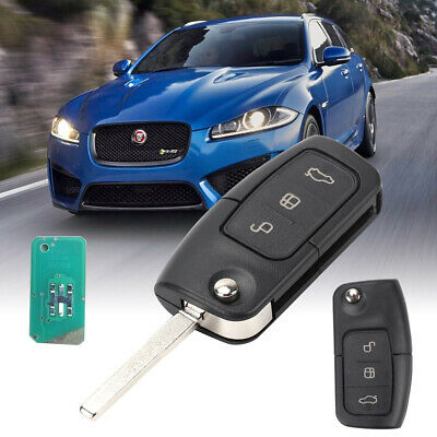 3 Button Ford Mondeo Focus Cmax Galaxy 433 MHZ+63 chip Remote Flip Key Fob+Blade