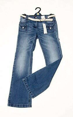 BNWT girls 'MARKS AND SPENCER' BOOTCUT Jeans Age 12 (WITH BELT) RRP £18