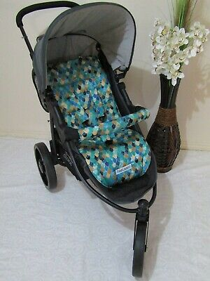 Stroller,pram liner set,universal,100% cotton fabric-Scales-Funky Babyz