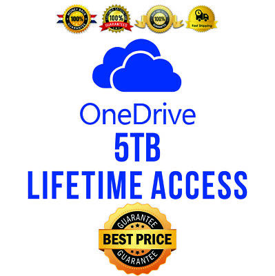 Onedrive 5TB Lifetime Account - Custom Login -  Best Price - Fast Delivery