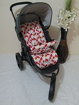 Stroller,pram liner set,universal,100% cotton fabric-Autumn leaves