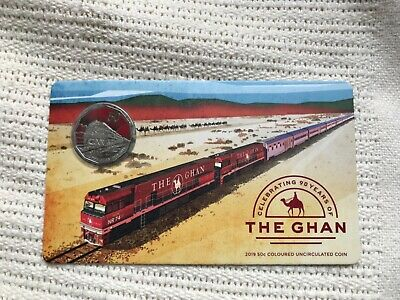 The Ghan 90th anniversary 2019 50c Coloured Uncirculated Coin