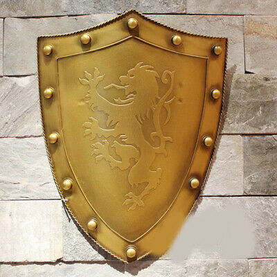 D9 Europe Battle Medieval Shield Antique Knight Armour Wall Home Decor Full Size