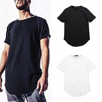 Fashion Men Slim Casual Short Sleeve Loose Solid Color Shirt T-Shirt Tee Tops