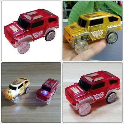 LED Light Up Cars For Tracks Electronics Car Toys With Flashing Lights #sdc