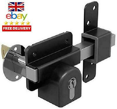 Gatemate 1490096 Euro P11 Long Throw Double Lock, Black/Stainless Steel, 70 Mm