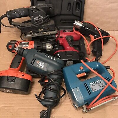 Job Lot Power Tools - Black And Decker Etc - Drills, Jigsaw, Cordless Drivers