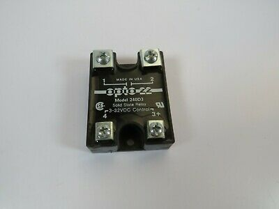 NEW OPTO 22 120D10 120VAC 10A  DC Solid State Relay 3-32 VDC Control DC60S5