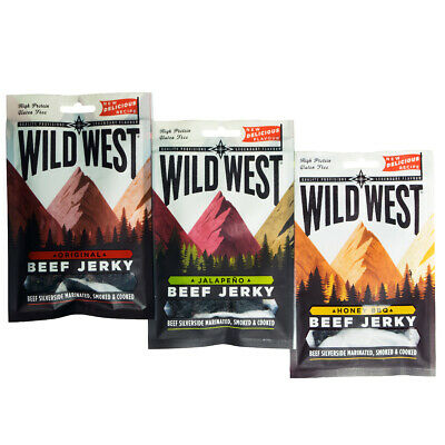 Wild West Beef Jerky all Flavours / Pack Sizes