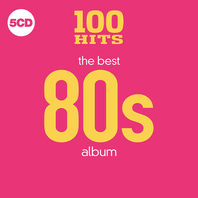 100 Hits: The Best 80s Album *Greatest Hits Of The Eighties 1980's NEW 5 CD PINK
