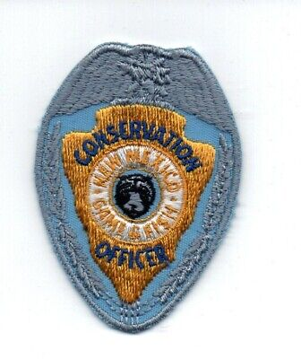 CONSERVATION  N.Y.S.D.E.C OFFICER Emb Patch 4.75x11/&3x6hook on back  gold