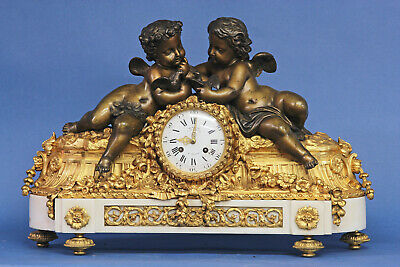 Superb DENIERE Figural French Mantle Clock.