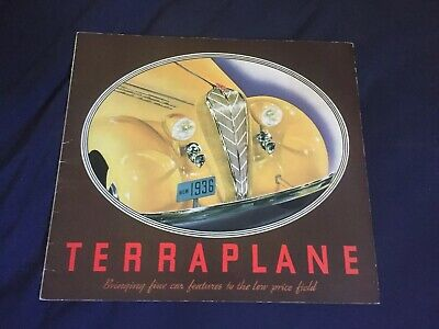 1936 Hudson Terraplane Full Line Large COLOR Brochure Catalog Prospekt