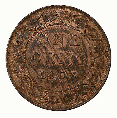 Raw 1903 Canada 1C Uncertified Ungraded Canadian Copper Large Cent