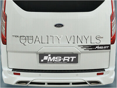 Transit Custom MS RT Rear door Graphic Decals SWB LWB Tailgate Stickers P106