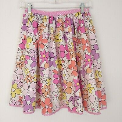 Mini Boden Girl's Skirt Size 11-12 Years 100% Cotton Multi-Color Pink Floral