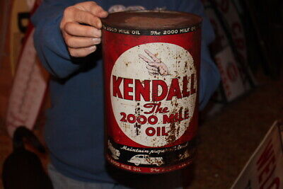 Vintage Kendall Motor Oil Metal Can Gas Station Sign