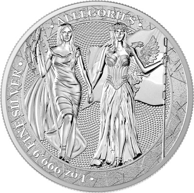 The Allegories Columbia & Germania 2019 Silber 1 OZ Unze Silver Argent 5 Mark