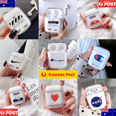 Airpods Case Protective Plastic Clear Slim Cover For iPhone AirPod Earphones AU