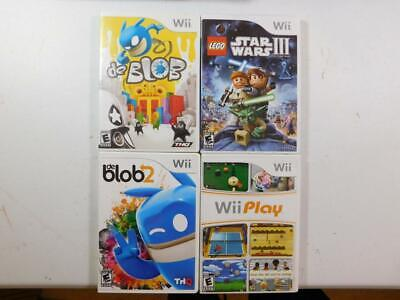 Lot Of 3 Nintendo Wii Games Tested De Blob 1 & 2 Lego Star Wars Wii Play