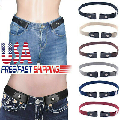 Buckle-free Elastic Invisible Belt for Jeans No Bulge No Hassle Genuine Leather~