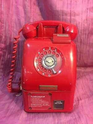 Retro Red Public Telephone