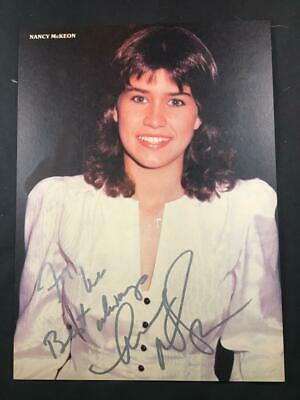 Nancy McKeon Signed The Facts Of Life Autographed Authentic TV Actress Photo A93