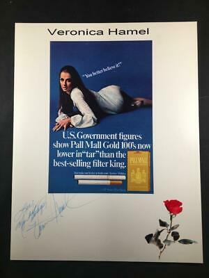 Veronica Hamel Signed Pall Mall Ad Autographed Authentic TV Actress Photo A92