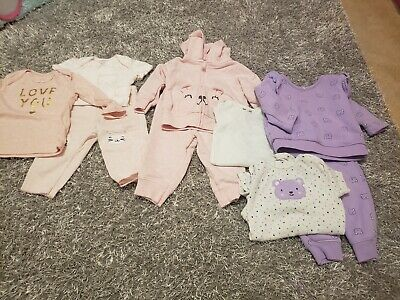Baby Girl Carters Size 6 months Lot Girls Long  Sleeve Tops Bottoms Outfits