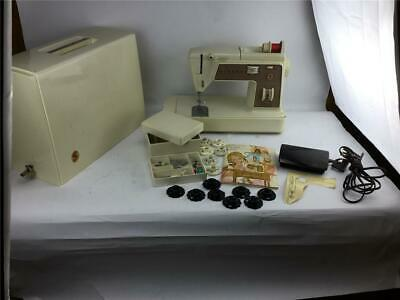 Singer Touch-N-Sew 758 Sewing Machine w Pedal Case Attachment Instruction Book
