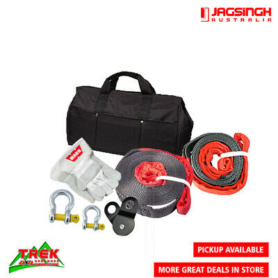 Recovery Kit Gloves Winch Snatch Block Warn Strap Bow Shackles 4Wd 4X4 Trailer
