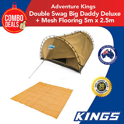 Adventure Kings Double Swag Big Daddy Deluxe + Mesh Flooring 5m x 2.5m