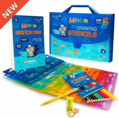 Mimtom Drawing Stencils Set for Kids and Boys | 51 Arts and Crafts Stencil Kits