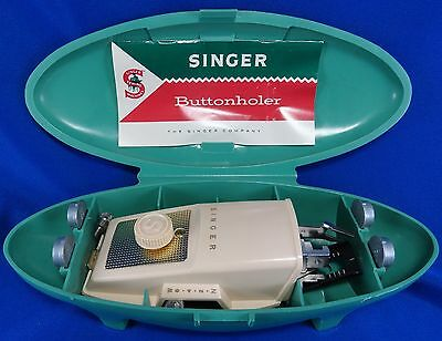 Vintage Singer Sewing Machines ButtonHoler 1960s Case 5 Templates 489500 489510