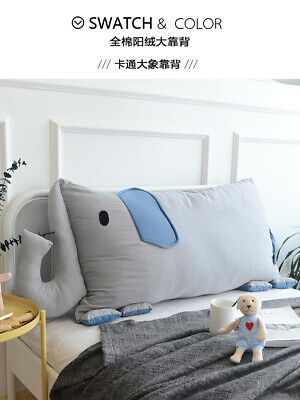 Cartoon Square Backrest Bedside Cushion Independent+Pillow Core Removable Wash