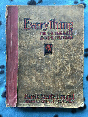 """Rare 1936 Harris Scarfe Tool Catalogue """"Everything For The Craftman"""""""