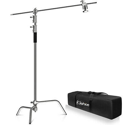 "Kshioe 40"" Adjustable Lamp Holder with Holding Boom Arm Photo Studio Light Stand"