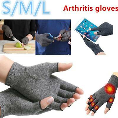 Anti Arthritis Fingerless Gloves Compression Support Hands Pain Relief Unisex
