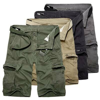 Men Cargo Shorts Pants Chino Military Army Summer Casual Combat Bottoms Trousers